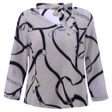 76a80098e Moda Plus Size Atacado. Camisa Social Feminina Plus Size Choker Com  Amarração