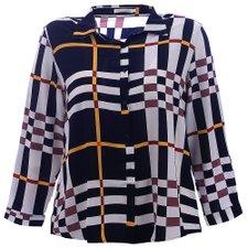 331bafc77 Moda Plus Size Atacado. Camisa Social Feminina Plus Size Estampa Xadrez