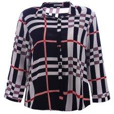 7f6fa5fe9b Camisa Social Feminina Plus Size Estampa Xadrez