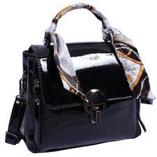 ca2c4579e Bolsa Feminina Baú Executiva De Verniz Luxo Com Lenço Removível