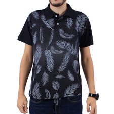 Camisa Polo Masculino Estampa Tropical