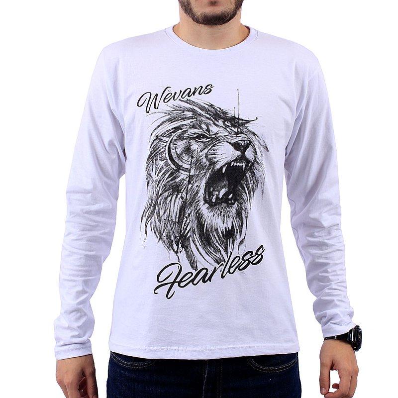85c38c5289fb Camiseta Masculina Manga Longa Estampa Em Alto Relevo - Compre Agora -  Feira da Madrugada SP