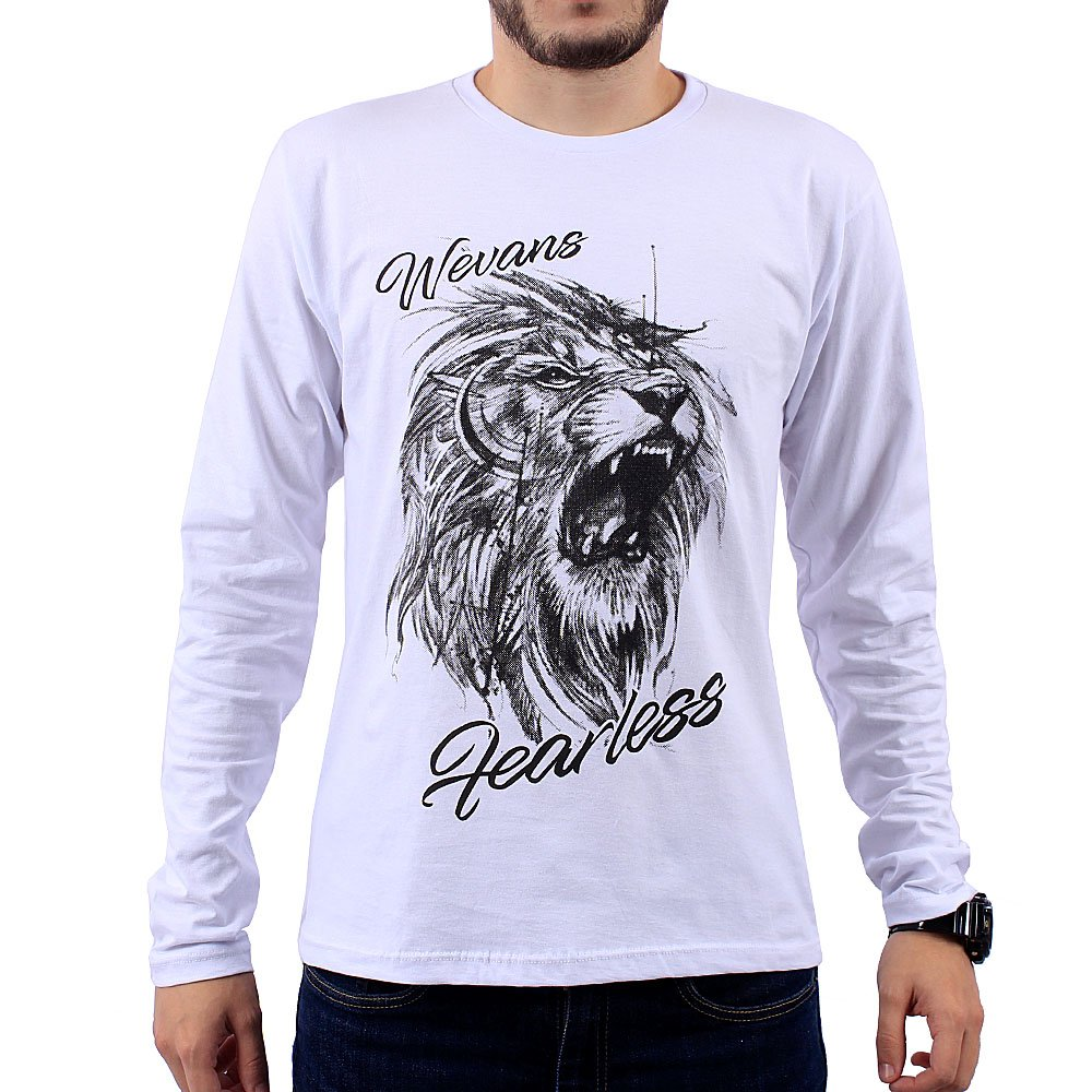 d9204b709f8af1 Camiseta Masculina Manga Longa Estampa Em Alto Relevo