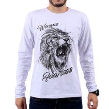 2a829c7ab6 Camiseta Masculina Manga Longa Estampa Em Alto Relevo