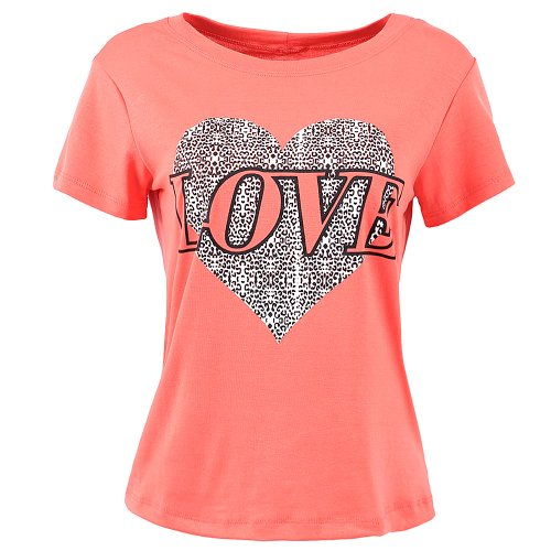 Camiseta Feminina Baby Look Estampa Frontal