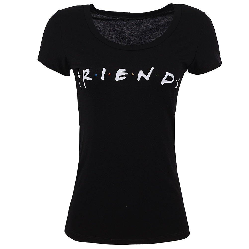 0a0e126afa0a0e Camiseta Feminina Baby Look Friends
