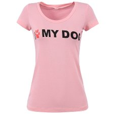 Camiseta Feminina Baby Look I Love My Dog