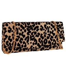 Bolsa Clutch Carteira Animal Print Com Alça De Corrente