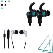 Kit 2 Fones De Ouvido Wired Com Microfone E Strong Bass 5D
