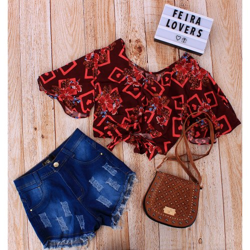 "Kit Insta Lovers Cropped ""G"" + Short ""44"" + Transversa"