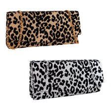 Kit Feminino de Festa 2 Bolsas Animal Print Clutch