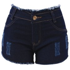 Short Jeans Feminino Levanta Bumbum Destroyed