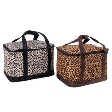 Kit Feminino Com 2 Bolsas Térmicas Estampa Animal Print