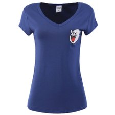 Camiseta Feminina Baby Look Com Estampa Frontal