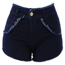 Short Jeans Feminino Barra Desfiada Destroyed