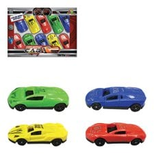 Kit Com 10 Carrinhos Car Racing De Brinquedo Coloridos