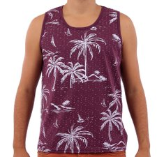 Camiseta Regata Masculina Com Estampa Tropical