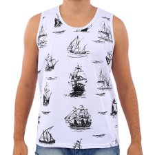Camiseta Regata Masculina Com Estampa Frontal