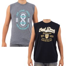 Kit Com 2 Camisetas Regatas Masculina Estampada