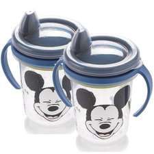 Kit 2 Canecas Trio Infantil Azul Mickey Mouse 330ML