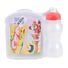 Kit Recreio Infantil Sanduicheira e Garrafa Sleeve 250 ML