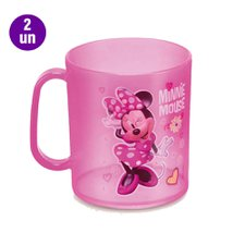 Kit 2 Canecas Infantil Plástica Minnie Mouse Plasduran 400ML