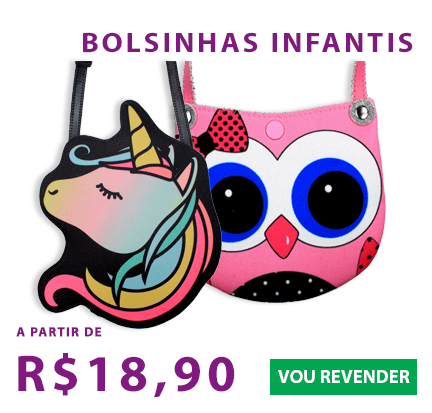 As bolsinhas mais lindas e fofas do atacado