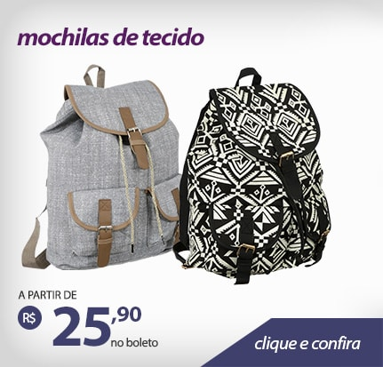 Material mais leve, super fashion!