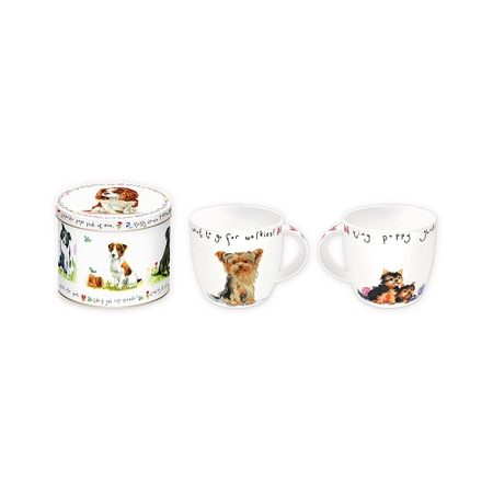 Caneca Porcelana com Lata 350 ml Ting Puppy Rs2279Pupts Alimport