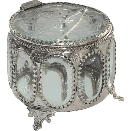 PORTA JOIA SILVER ANTIQUE 13X10 CM 4047 F PRESTIGE PC