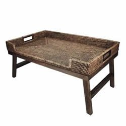 BANDEJA CAFE MANHA RATTAN NEW 65X40X31CM 17593 DYNASTY PC