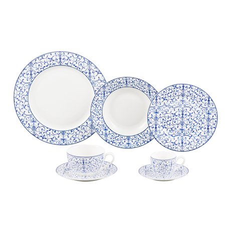 JOGO JANTAR CHA CAFE PORCELANA ABSTRACT 42PCS 17209 WOLFF