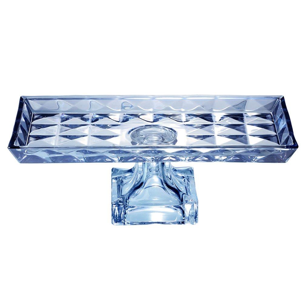 Centro de mesa de cristal chumbo com p diamant azul 35x17 for Centro de mesa cristal wolff