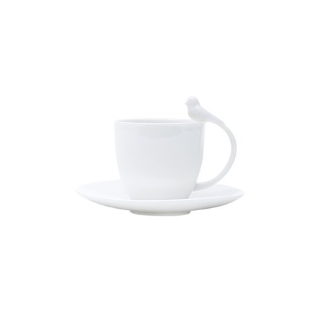 Jogo Xicaras Porcelana P/Cafe C/Pires 6pcs Birds 85ml 17236 Wolff