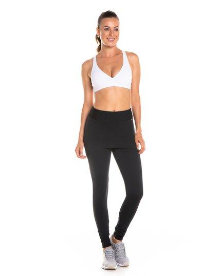 334084d21 Calça legging com saia cós anatômico preto
