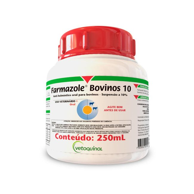 Farmazole Bovino 10% Oral - 250 ml