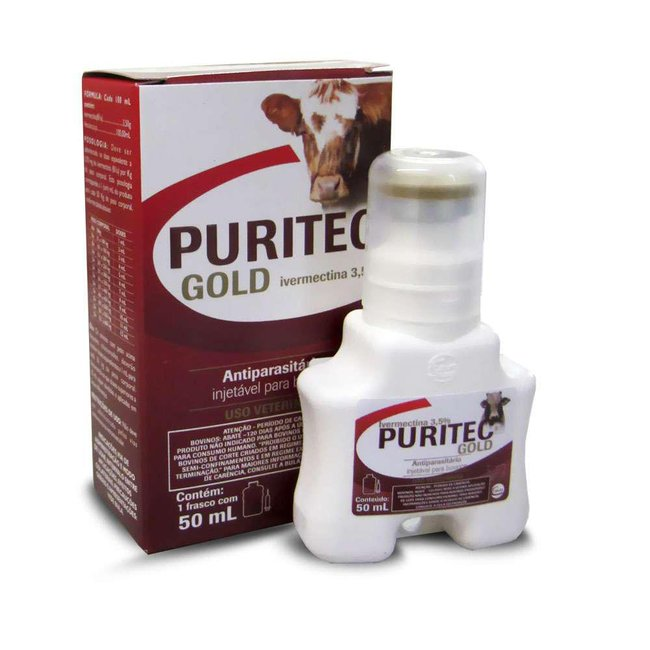 Puritec Gold 3,5% (Similar Ivomec) injetável - 50 ml