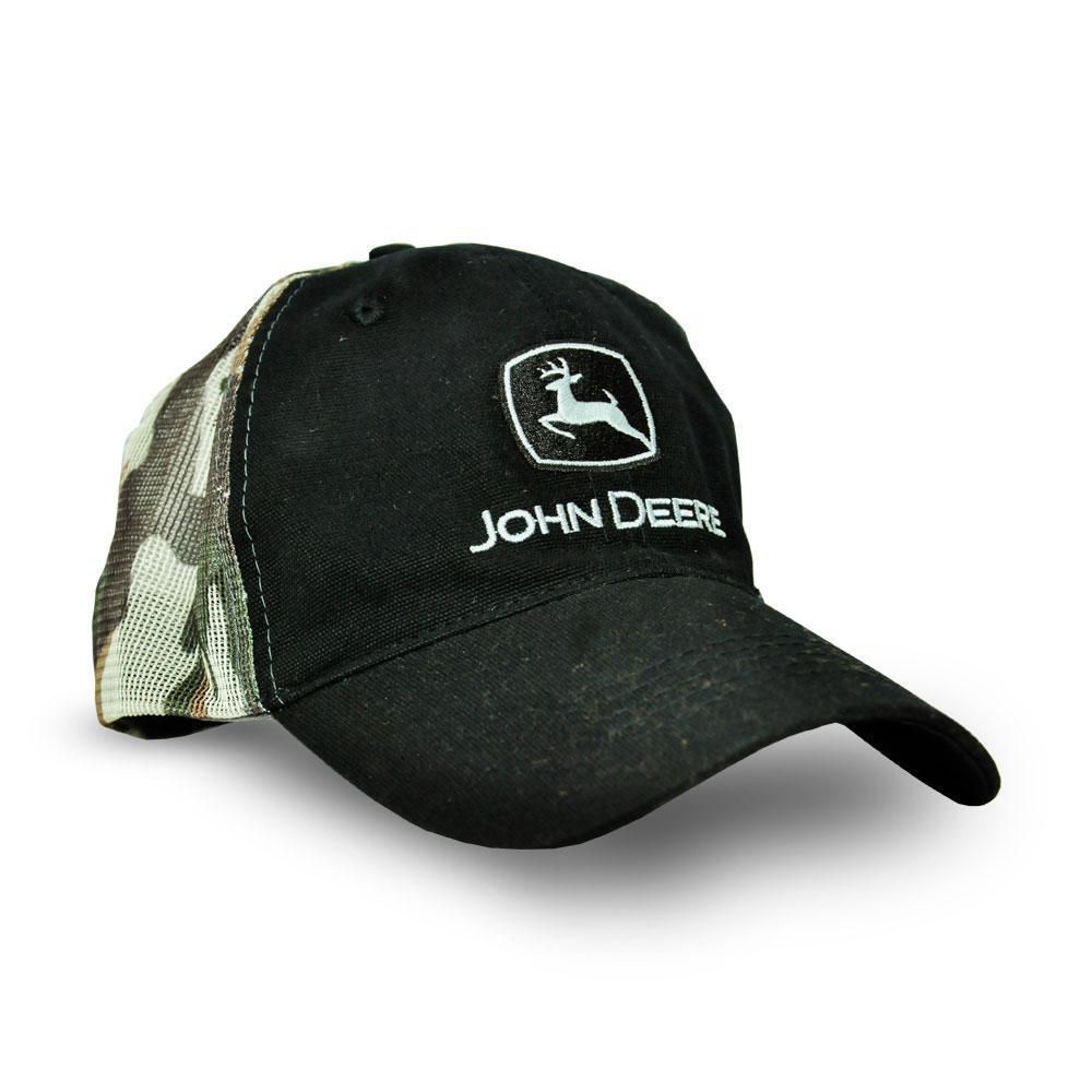 Boné Preto Camuflado - John Deere  61fd8e306d4