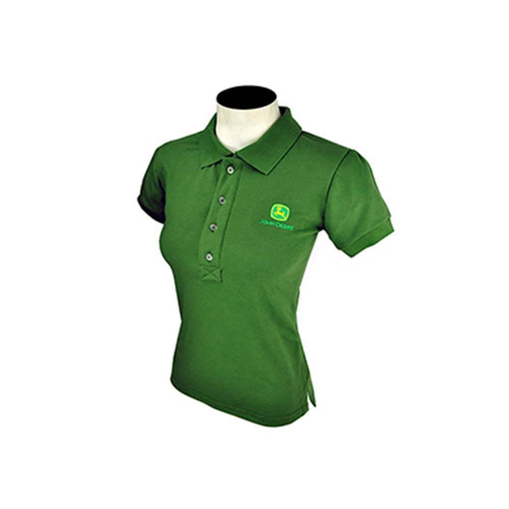 Camisa Pólo Feminina Verde Militar Intermediária - John Deere  9c247dd9a2b5d