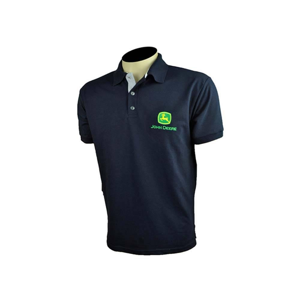 Camisa Pólo Masculina Azul Marinho Linha Premium - John Deere  7b887bdd8214c
