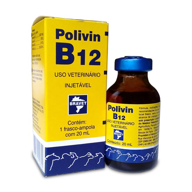 Polivin B12 injetável - 20 ml