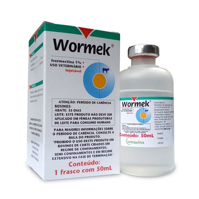 Wormek 1% - Frasco - 50 ml