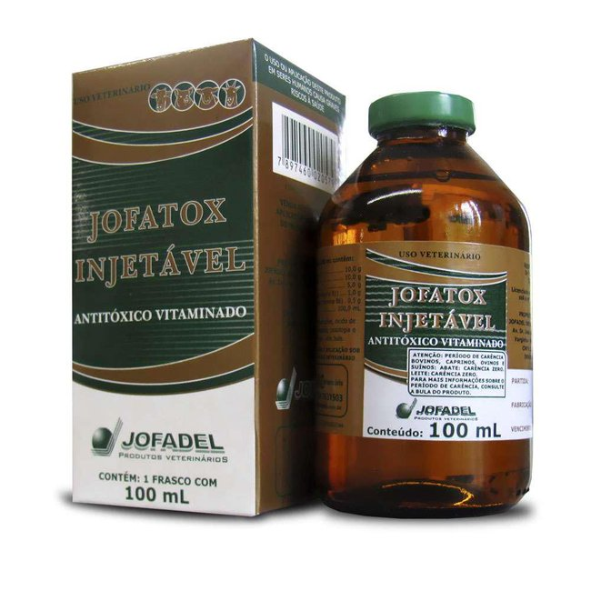 Antitóxico Jofatox Injetável - 100 ml