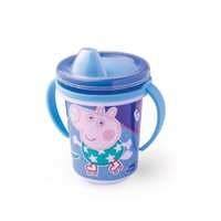 Caneca Trio 330ml Peppa Azul - Plasútil