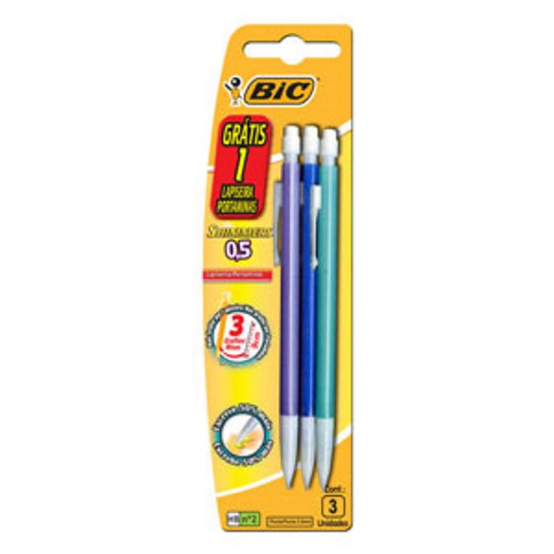 Lapiseira Shimmers 0,5 Mm Blister Com 3 Unidades - Bic