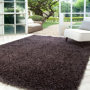 Tapete 50x100cm Stanford 100%poliester Marrom - Corttex