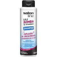 Shampoo S.o.s Bomba Vitaminas 500ml - Salon Line