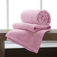 Manta Casal Flannel Home Design Rosa Antigo 180x220cm - Corttex