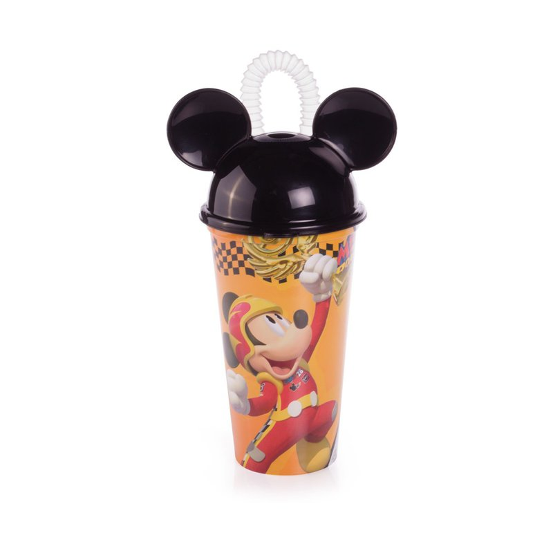 Copo Mickey Com Canudo 500ml - Plasútil
