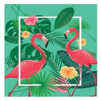 Quadro Flamingo 30x30cm - Nsw Import
